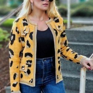 Leopard Print Cardigan Blazer ✅